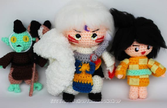 Amigurumi Chibi Doll : Sesshoumaru rin jaken inuyasha sesshomaru anime manga comics