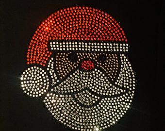 African American Santa- Rhinestone Santa Claus Shirt