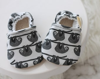 6-12 Months Sloth Baby Shoes, Sloth Baby Shoes, Sloth Baby Booties, Sloth Baby Clothes, Baby Boy Shoes, Baby Shoes, Baby Booties