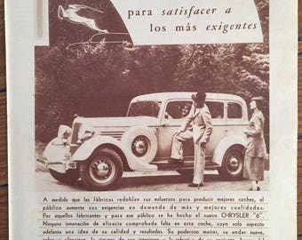 Chrysler 6 (1934) Vintage Ad