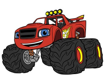 Monster Machines - Blaze & Numbers - svg and dxf files