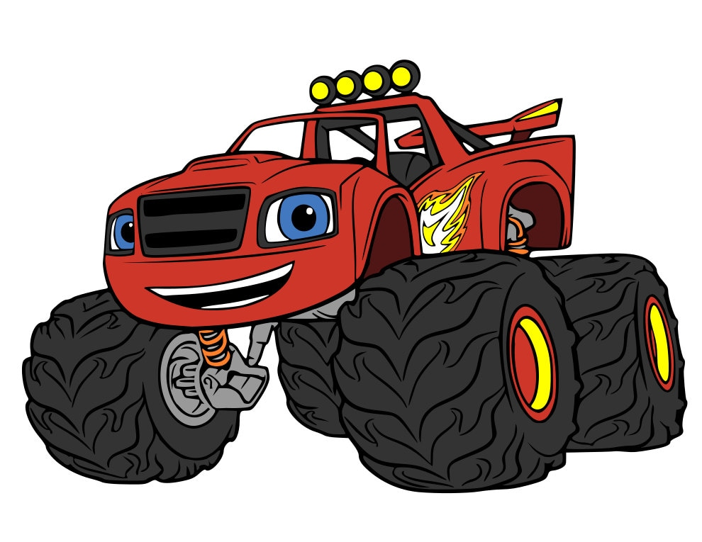 Monster machines blaze numbers svg and dxf files for Blaze cartoni