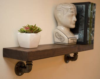 Newton :  Industrial Wooden Shelf / Rustic Shelf / Shelving / Bookshelf / kitchen Shelf / Industrial Shelf / Steampunk / Home Decor