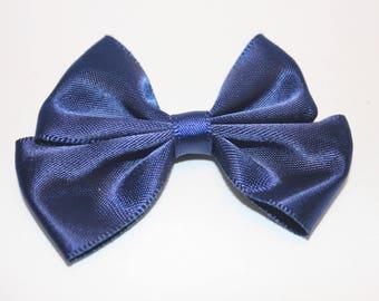 1 40x60mm jewelry scrapbooking night blue satin bow
