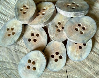 Buttons Wood Rustiс , Set of 10 Round Wooden Buttons, Handcrafted Wooden Buttons, Eco friendly Accessories