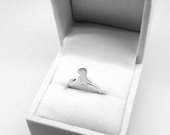 T-Rex tail Ring - Sterling Silver - (Gift Dinosaur)