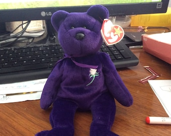 rare* ty  1997 princess Diana Beanie baby p.e pallets made  in indonesia