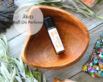 ARIES Essential Oil Roll On Perfume Amber Glass Bottle Zodiac Birthday Gifts Rosemary Black Pepper Rosewood Essential Oil Blend Ayurveda