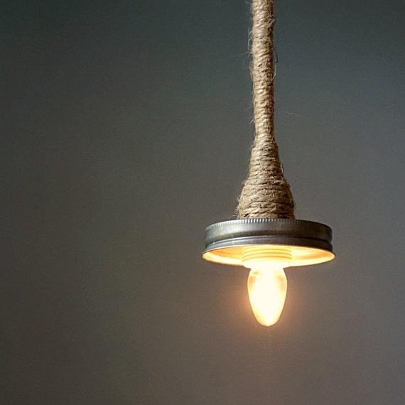 Hanging Bottle Lamp Kit: Items Similar To Mason Jar Pendant Lamp Kit- Turn Your