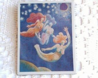 Vintage Moon angels brooch Artworx 1992