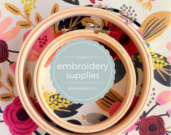 Embroidery Hoops - 5 and 7 inch wood hoops - set of 4