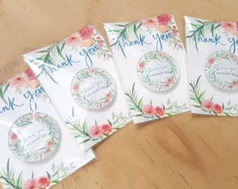 Glass magnet wedding favours or save the dates. Custom design