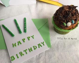 "Greeting card ""Happy birthday-birthday candles"""