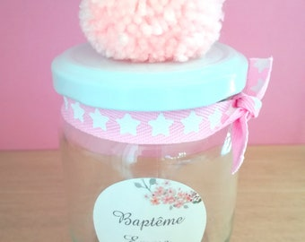 Glass container candy jar
