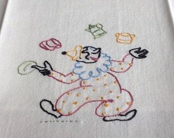Clowning Around Vintage Kitchen Towel