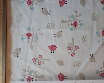 Pink cotton fabric with bears