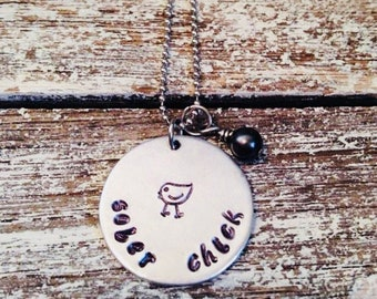 Sober chick~ Recovery jewelry~ Sober chick necklace~