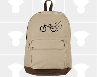 Biking - Leather Bottom Laptop Backpack