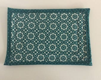 Teal and White Casserole Pot Holder