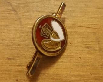 Sterling Silver and Enamel Vintage Blood Giving Brooch