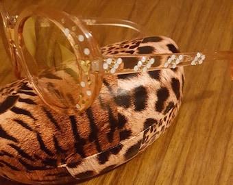 Sparkling on Trend Retro  Sunglasses Swarovski  crystals -Amber Lights
