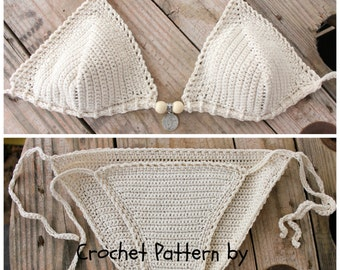 PDF, Crochet PATTERN Galene Crochet Bikini Top and Bottom, Sizes XS-L