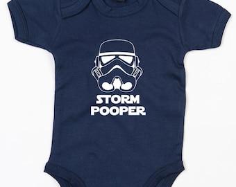 Storm Pooper baby grow vest cute Star Wars gift