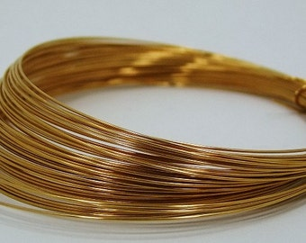German Made Wire 22ga Round Gold Plated 10 Meter Coil