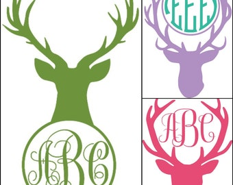 Cute Deer Monogram