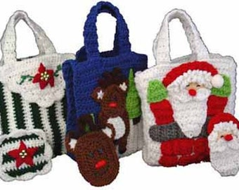 Christmas Gift Bags With Money Holders Set 2 Crochet Patterm