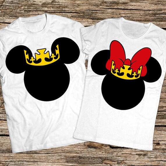 King Queen shirts, King Queen Tshirt, King Queen princess shirts, King Queen prince shirts, Disney couple shirt, Matching Couple shirts