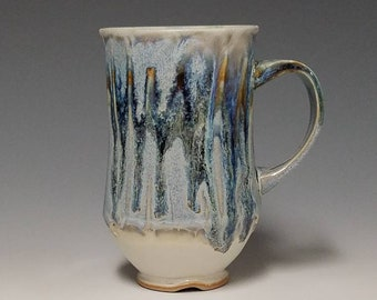 Handmade wheel thrown ceramic mug #1136