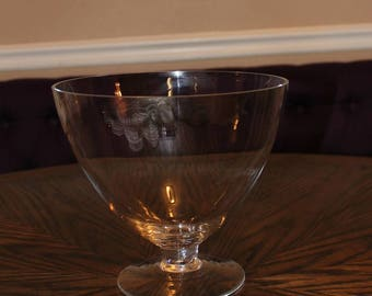 RARE Crabtree and Evelyn Handblown Glass Bowl Centerpiece