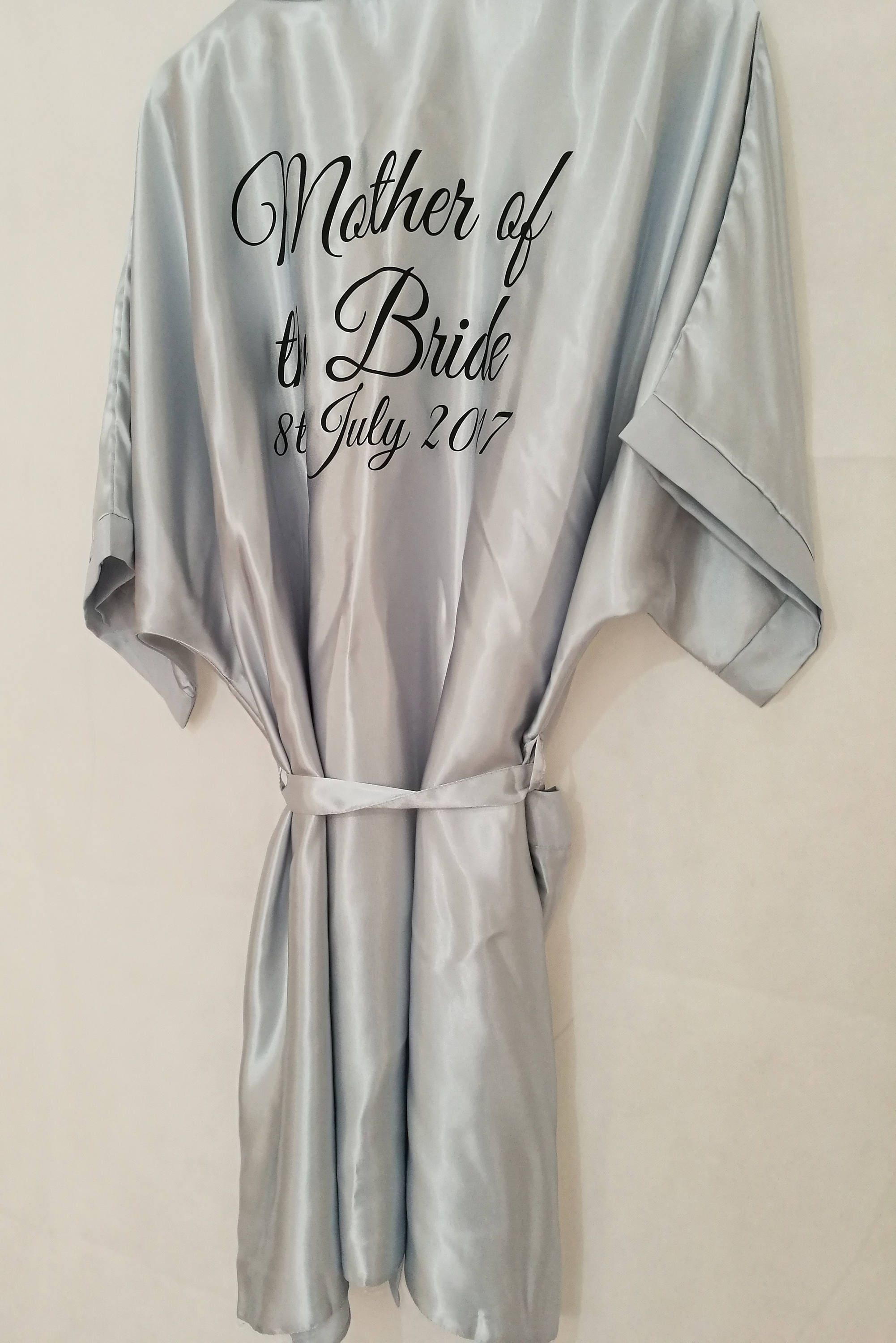 Silver Bridal Robe, Personalised Dressing Gown, Bridesmaid Gift, Hen ...