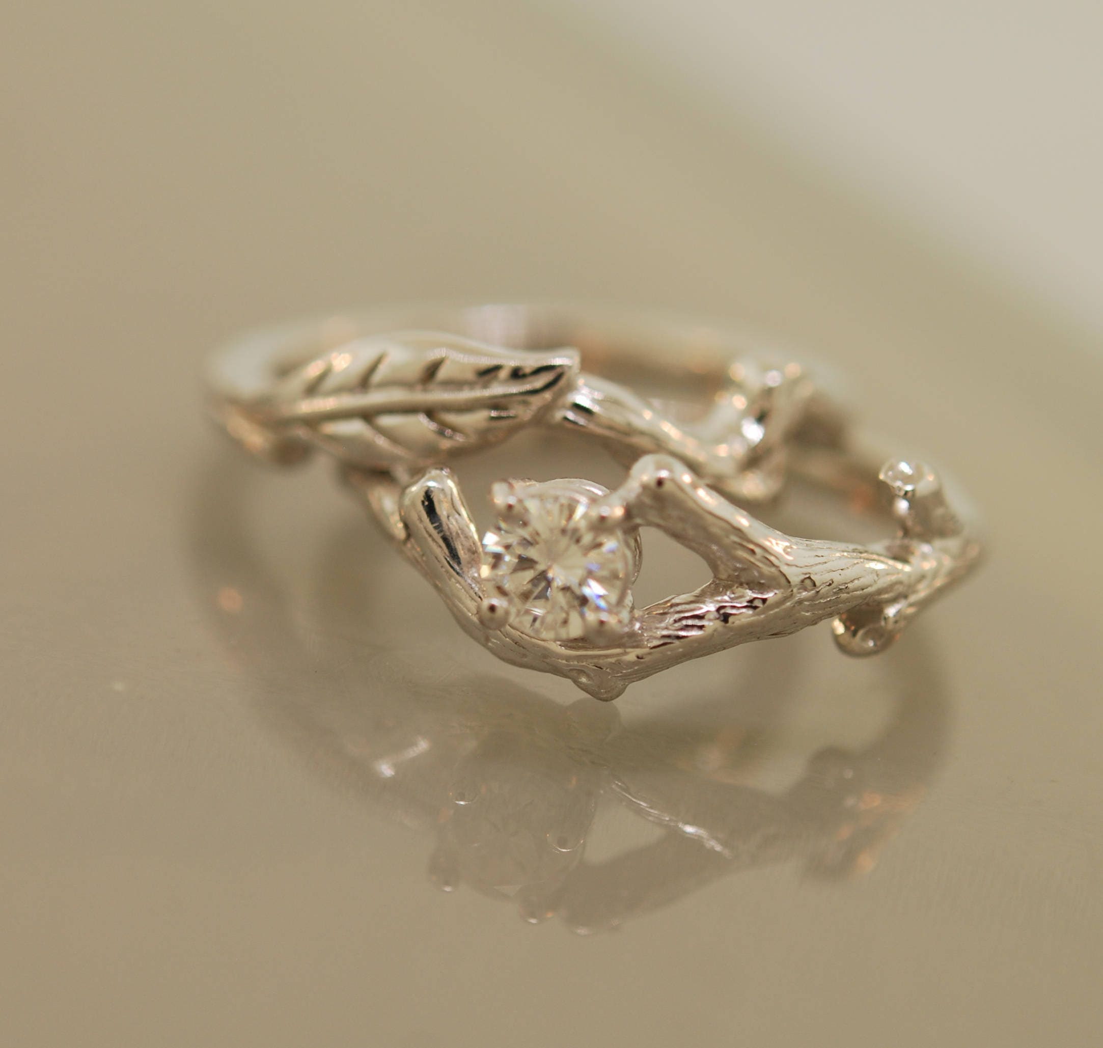 moissanite wedding branch luxury e of forever rings amp ring vs engagement