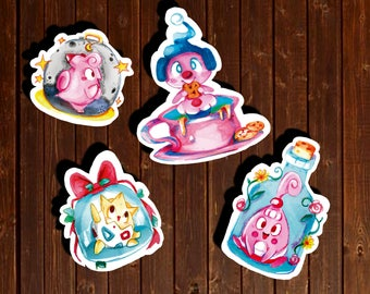 Cute Fairy Normal Pokemon stickers - togepi happiny sylveon clefairy moon stone cute kitty eeveelution klebt handmade pink pokemon sticker