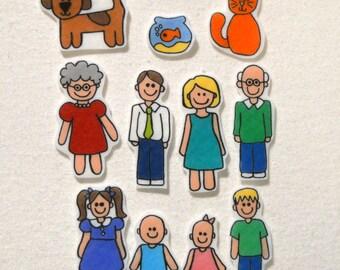 Family, Felt Board, Flannel Board, Felt Set, Homeschool, Busy Book, Felt Story, Story Time, Quiet Book, Imaginative Play, Teacher Resource