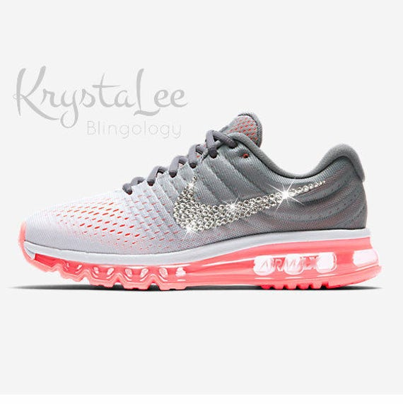 Womens Nike Air Max 2017 Lava, Grey, White Custom Bling Crystal Swarovski  Sneakers, Running Shoes, Tennis Shoes, Nikes