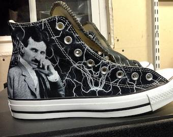 Nikola Tesla Custom Converse All Stars