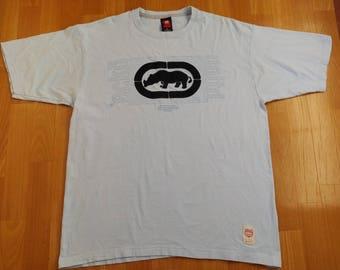 ECKO UNLTD jersey, vintage cotton t-shirt, 90s hip hop clothing, 1990s hip-hop, OG, gangsta rap, size L Large