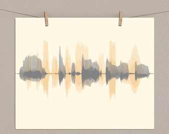 Custom Sound Wave Art - Multiple Sound Wave Print, Voice Wave, Voiceprint, Voice Art - Create Multi Colored Soundwave Gift for Him, for Men