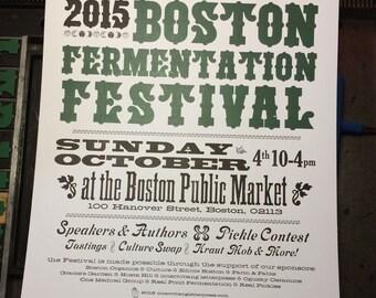 Letterpress Poster - Boston Fermentation Fest
