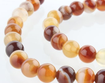 Natural Chocolate Agate - 6MM