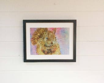 Red Squirrel Print A4