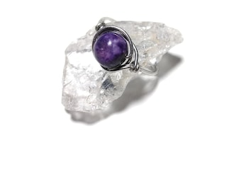 Wirewrapped Crystal Rings