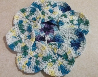 Facial Scrubbies, Facial pads, gift set, cotton scrubby's, cotton pads, scrubbies, cotton rounds