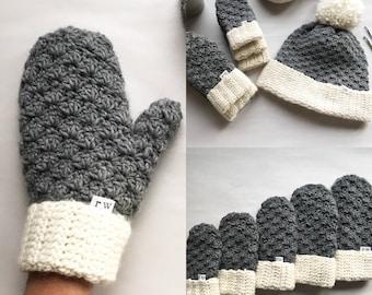 CROCHET PATTERN, The Jesse Mittens, Crochet Mittens, Easy Pattern, Mitten Pattern, Crochet Mittens, Pattern, Crochet