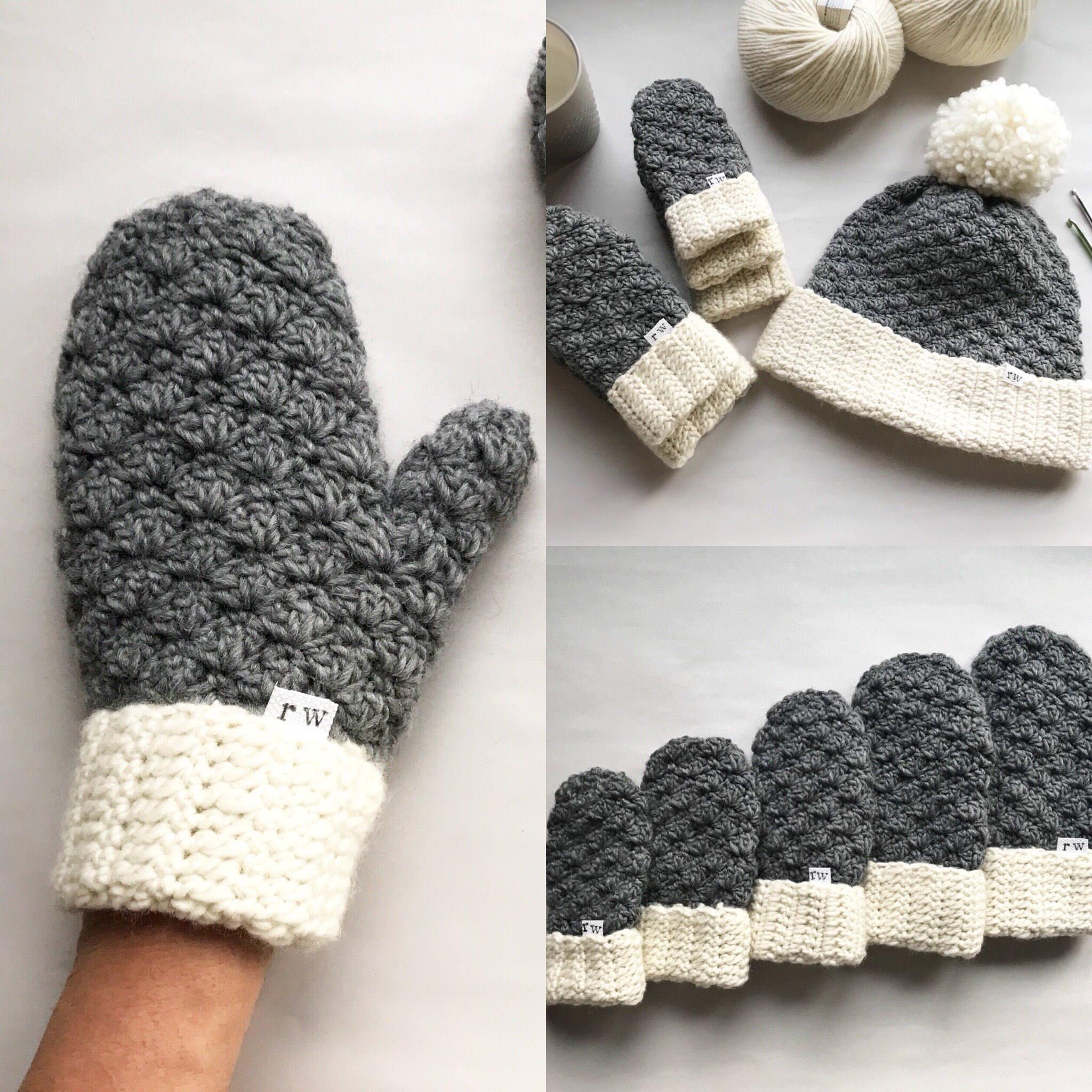 Häkeln Sie Muster die Jesse Handschuhe häkeln Handschuhe