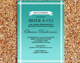 Bride & Co. Breakfast at Tiffany's Theme Bridal Shower or Party Invitation | DIY Printable Digital File