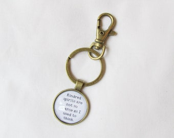 Anne of Green Gables Quote Keyring Keychain Literature Kindred Spirits Are Not So Scarce As I Used To Think Bag Charm Dangle Planner Gift